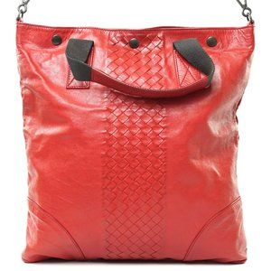 Auth Bottega Veneta Tote Bag Red #6578B15